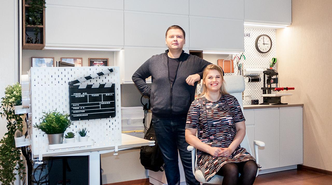 """""""Namų idėja su IKEA"""": darbo kambarys svetainėje"""